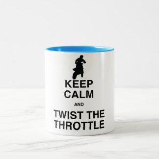 Keep Calm and Twist the Throttle - Dirt Bike Two-Tone Coffee Mug