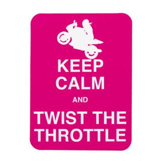 Keep Calm and Twist the Throttle - Sport/Street Rectangular Photo Magnet