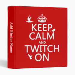 Avery Signature 1' Binder with Keep Calm and Twitch On design