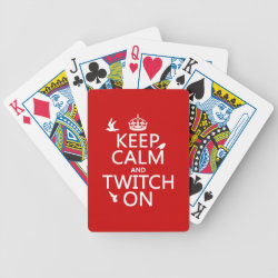 Playing Cards with Keep Calm and Twitch On design