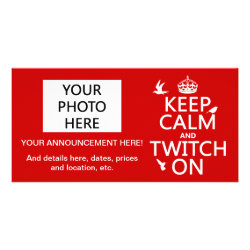 8' x 4' Photo Card with Keep Calm and Twitch On design