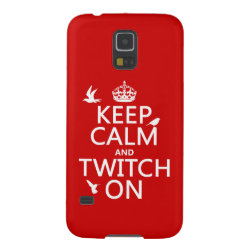 Case-Mate Barely There Samsung Galaxy S5 Case with Keep Calm and Twitch On design