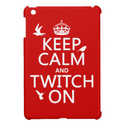 Case Savvy iPad Mini Glossy Finish Case with Keep Calm and Twitch On design
