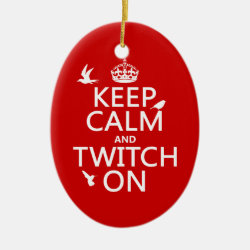 Oval Ornament with Keep Calm and Twitch On design