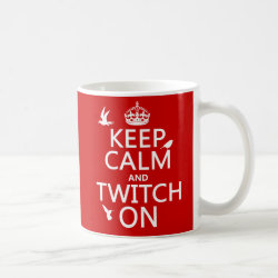 Classic White Mug with Keep Calm and Twitch On design