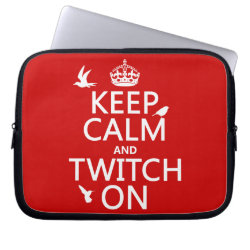 Neoprene Laptop Sleeve 10 inch with Keep Calm and Twitch On design