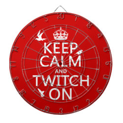 Megal Cage Dart Board with Keep Calm and Twitch On design