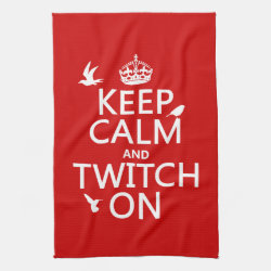 Kitchen Towel 16' x 24' with Keep Calm and Twitch On design