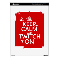 Amazon Kindle DX Skin with Keep Calm and Twitch On design