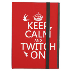 iPad Air Powis Case with Keep Calm and Twitch On design
