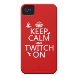 Case-Mate iPhone 4 Barely There Universal Case with Keep Calm and Twitch On design