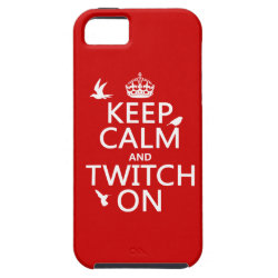 Case-Mate Vibe iPhone 5 Case with Keep Calm and Twitch On design