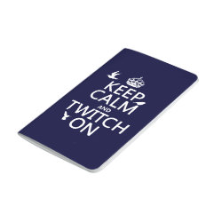 Pocket Journal with Keep Calm and Twitch On design