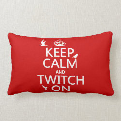 Throw Pillow Lumbar 13' x 21' with Keep Calm and Twitch On design