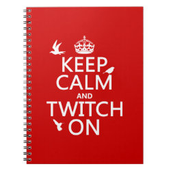 Photo Notebook (6.5' x 8.75', 80 Pages B&W) with Keep Calm and Twitch On design