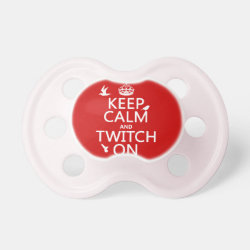 BooginHead® Custom Pacifier (6+ Months) with Keep Calm and Twitch On design