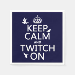 Paper Napkins with Keep Calm and Twitch On design