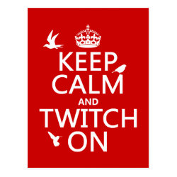 Postcard with Keep Calm and Twitch On design