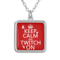 Small Necklace with Keep Calm and Twitch On design