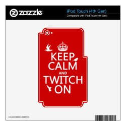 iPod Classic (80/120/160GB) Skin with Keep Calm and Twitch On design