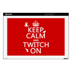 17' Laptop Skin for Mac & PC with Keep Calm and Twitch On design