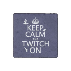 Marble Magnet with Keep Calm and Twitch On design