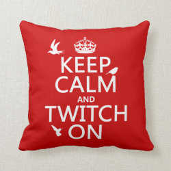 Cotton Throw Pillow with Keep Calm and Twitch On design