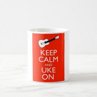 Keep Calm and Uke On! Classic White Coffee Mug