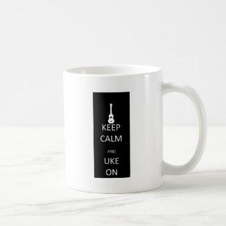 Keep Calm and Uke On Coffee Mugs