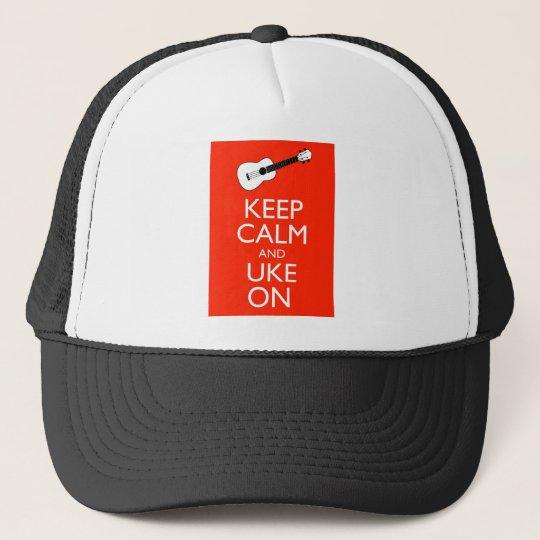 Keep Calm and Uke On! Trucker Hat