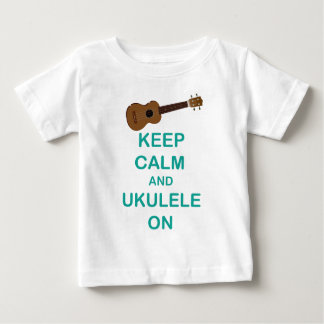 Keep Calm and Ukulele On unique Hawaii fun print Baby T-Shirt