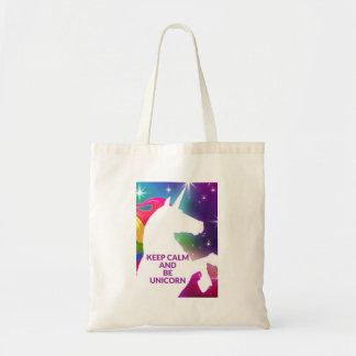 Keep Calm and Unicorn tote bag