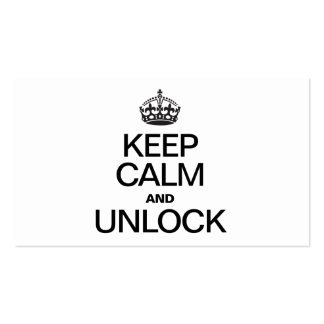 KEEP CALM AND UNLOCK Double-Sided STANDARD BUSINESS CARDS (Pack OF 100)