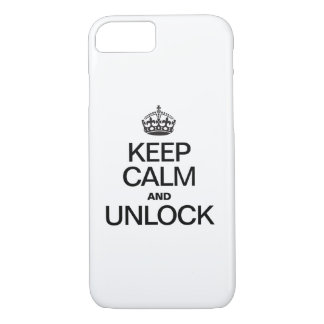 KEEP CALM AND UNLOCK iPhone 7 CASE