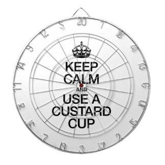 KEEP CALM AND USE A CUSTARD CUP DART BOARD