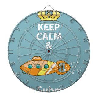 Keep Calm and Use a Submarine vector Dartboard With Darts