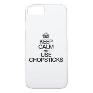 KEEP CALM AND USE CHOPSTICKS iPhone 8/7 CASE