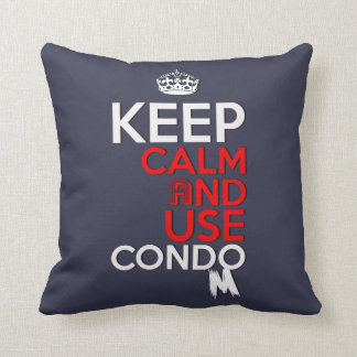 keep calm and use condom pillow