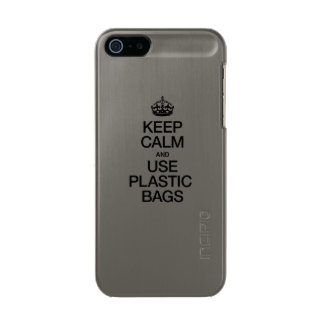 KEEP CALM AND USE PLASTIC BAGS METALLIC iPhone SE/5/5s CASE