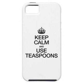 KEEP CALM AND USE TEASPOONS iPhone SE/5/5s CASE
