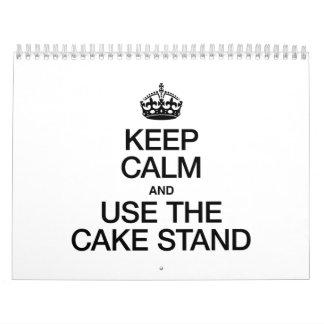 KEEP CALM AND USE THE CAKE STAND WALL CALENDAR