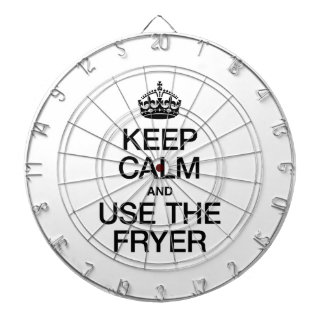 KEEP CALM AND USE THE FRYER DARTBOARD WITH DARTS
