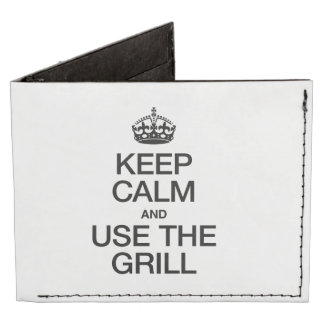 KEEP CALM AND USE THE GRILL TYVEK® BILLFOLD WALLET