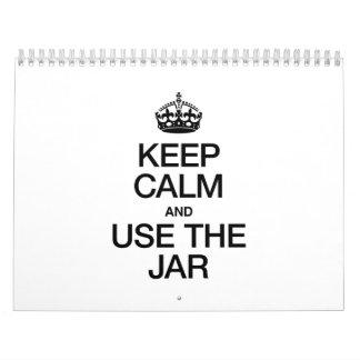 KEEP CALM AND USE THE JAR CALENDAR