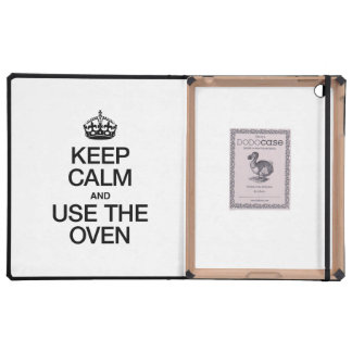 KEEP CALM AND USE THE OVEN iPad COVERS