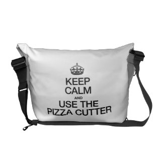 KEEP CALM AND USE THE PIZZA CUTTER COURIER BAGS
