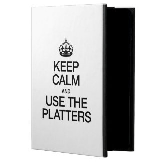 KEEP CALM AND USE THE PLATTERS iPad AIR COVERS