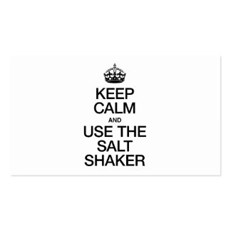 KEEP CALM AND USE THE SALT SHAKER Double-Sided STANDARD BUSINESS CARDS (Pack OF 100)