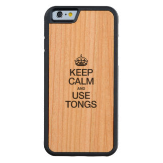 KEEP CALM AND USE TONGS CARVED® CHERRY iPhone 6 BUMPER CASE