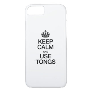 KEEP CALM AND USE TONGS iPhone 8/7 CASE